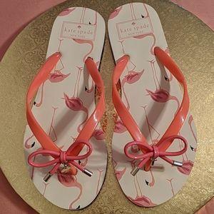 Kate Spade Pink Flamingo Flip Flops NWOT